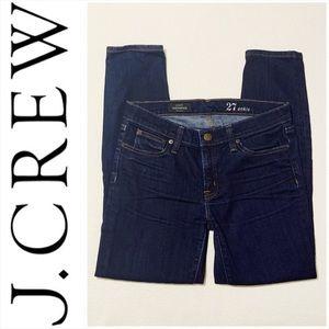 J. Crew Indigo Toothpick Skinny Jeans 27